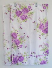 Pair Purple Floral Pillowcases Queen Size, Hotel 5th Avenue Microfiber
