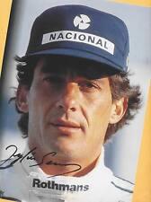 Ayrton SENNA - SUPER Autogramm Bild - Kopie (7) - Print - Copie + AK F1 signiert