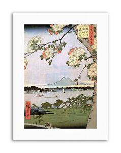 Utagawa Hiroshige Japanese 100 Views Edo 035 Canvas Art Print