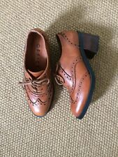 New Tan Leather Office Brogues Shoes 3/ 36