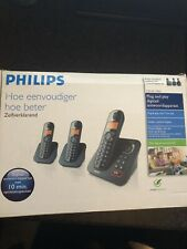 Philips CD 155 Trio Telephones With Answer Machine!