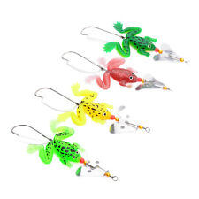 Lot 4pcs Rubber Frog Soft Fishing Lures Bass Spinner Sinking 9cm 3-9/16inch Gx