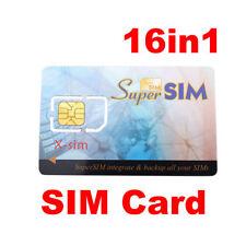 Mini 16 in 1 Max SIM Cell Phone Magic Super Card Backup W