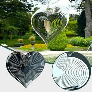 2021 Beating Heart Wind Spinner Wind Catcher For Home Yard Hanging Garden F4C5