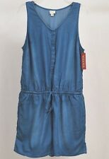 NEW Merona Indigo Blue Sleeveless Comfortable ROMPER. Womens Size XL