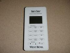West Ben 00006000 d Bread Maker Machine Electronic Control Panel models 41080 41080R