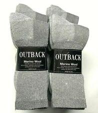 Premium 12 Pairs Gray 34% Merino Wool, 34%Acrylic, Thermal Crew Sock SZ 10-13.