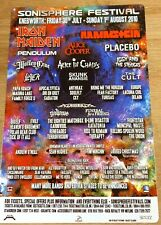 More details for sonisphere 2010 iron maiden rammstein motley crue the cult 8x12 inch metal sign