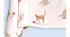 "Playful Kittens/Cats Fleece King Bed Throw Blanket 108�x90"" Nip"