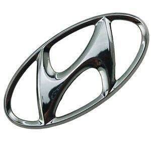 2003-2008 Hyundai Tiburon Emblem Logo Symbol Badge Trunk Lid Rear Chrome OEM