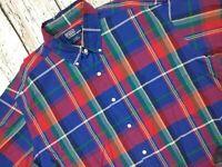 Mens Ralph Lauren Blake Short Sleeve Check Shirt Cotton Size XL