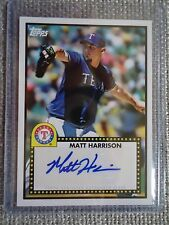 Matt Harrison 2011 Topps Linage 1952 Edition Autograph Card