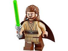 LEGO STAR WARS MINIFIGURE MINIFIG QUI-GON JINN QUI GON PRINTED LEGS 75058