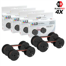 LD Compatible Data Supply R3027 Set of 4 Black and Red Printer Ribbons