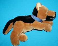 "My Best Friend GERMAN SHEPHERD DOG 14""  Plush Lying Tummy Blue Collar Stuffed"
