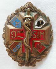 INSIGNE SERVICE DE SANTE 9° SIM Section Infirmiers Militaires Drago bér.ORIGINAL