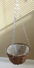 "Diameter 8"" Wicker Hanging Hooks Baskets"