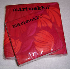 Lot of 2 Marimekko Napkins Made in Finland 9.5 x 9.5 and 13 x 13 - 20 ct. packs