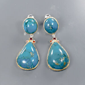 One of a kind SET Turquoise Earrings Silver 925 Sterling   /E57915