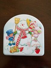 Strawberry Shortcake Collectible Ornaments Set of 3 in Collector's Snowman Tin