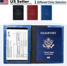 Slim Leather Passport ID Card Holder Passport Travel Wallet Blocking Case Cover