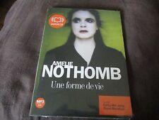 """LIVRE AUDIO NEUF """"UNE FORME DE VIE"""" Amelie NOTHOMB (1 CD)"""