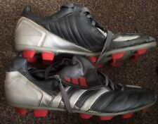 RARE Adidas Predator TRX Vintage 2003 Moulded Studs Sil Football Boots Size 7 J8