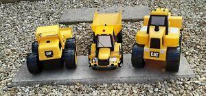 Cat Caterpillar & JCB Construction Vehicles Toys Bundle Truck Digger Loader