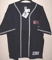 New York Yankees Full Zip Jacket Medium Navy Embroidered Logos Russell MLB