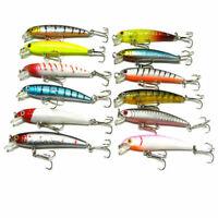 1pcs Plastic Minnow Fishing Lures Bass Crankbait Tackle 7.52cm I5A0