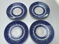 CHURCHILL Willow Blue Coffee Saucer Under Plates (4) Plates