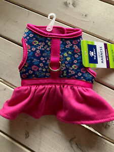 Top Paw Pink Floral Dress Harness Dog Puppy XXS