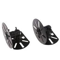 2x Wall Mount Bracket Satellite Speaker Home Theater Holder Speaker Bracket
