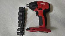 "HILTI SIW 18-A  18V CORDLESS IMPACT WRENCH 1/2"" (Tools Only) with Extras."