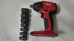 """HILTI SIW 18-A  18V CORDLESS IMPACT WRENCH 1/2"""" (Tools Only) with Extras."""