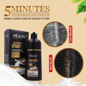Permanent Hair Dye Colour Shampoo Coconut Oil Free Ammonia Cover Gray White
