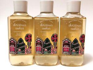 LOT 3 BATH & BODY WORKS CHRISTMAS COOKIES SHOWER GEL BODY WASH 10 FL OZ SHEA