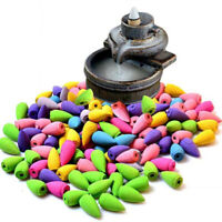 80-300pc Incense Cones Smoke Tower Cone Hollow Bullet Backflow Natural New