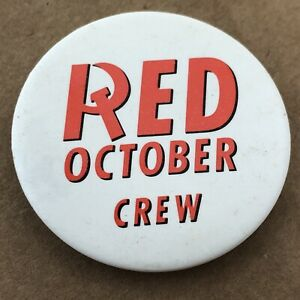 The Hunt For - Red October Crew Promo Pin - Commodore 64/128 Datasoft VTG Rare