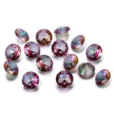 2.5-10 CT Natural Mystic Rainbow Topaz Round Cut Loose Gemstones Gem Wholesale