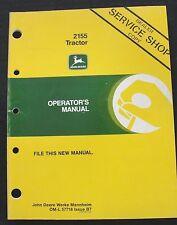 John Deere 2155 Trattore Operatori Manuale Vera Carino