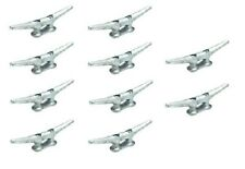 """New Marine Dock Cleat 8"""" Galvanized Open Base Boat 10 Pack"""