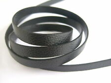 1Meter Black Imitated PU Flat Leather Cord 10*2mm Jewelry Finding For DIY