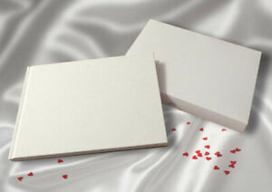 Guest Book. A5 Blank Paged Linen Cover With Box Wedding Funeral Christening