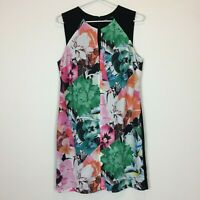 Tokito Womens Black with Flowers Sleeveless Lined Dress with Back Zipper Size 10