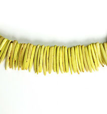"Yellow 25x4mm Coconut Palm Wood Dagger Stick Beads 16"" Strand App 100 Beads"