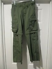 Boy Scouts Of America Switchback Bsa Green Uniform Pants Youth size 8