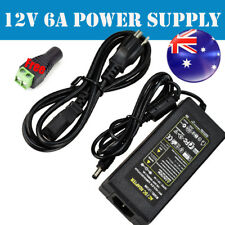 6A 12V DC Power Supply Charger Adapter Transformer 3528 5050 LED Strip AU 2018