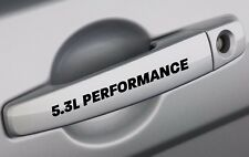 5.3L Performance Door Decal Sticker Emblem GM Vortec Chevy Silverado Matte Black
