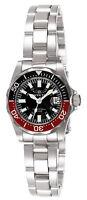 Invicta Women's Watch Signature Quartz Black Dial Stainless Steel Bracelet 7061